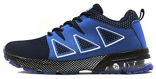 tqgold Zapatillas de Deportes Zapatos de Interior Exterior Montaña Asfalto Running Zapatillas para Correr Azul