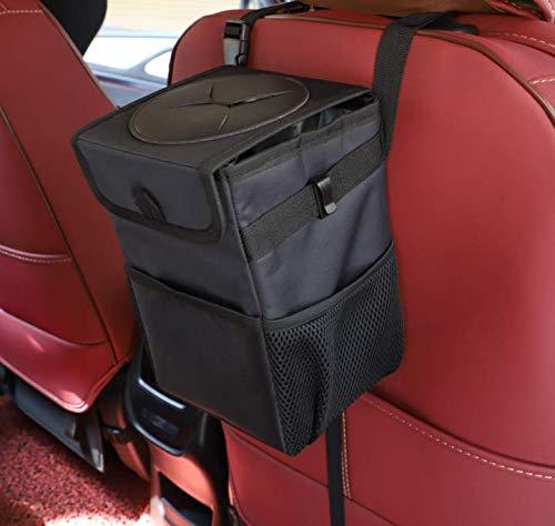 Color You Car Bin viaggio ecc ufficio casa impermeabile Car Trash Bin Portable Car Organizer sacchetto della spazzatura Premium 6L con coperchio barbecue allaperto
