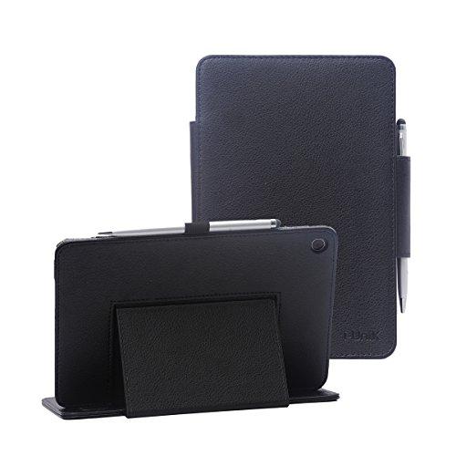 i-UniK Verizon 2017 Asus ZenPad Z8s Support Sleep Awake Function Compatible Model# ASUS-P00J 4G LTE Tablet Case [Bonus Stylus] (Black)