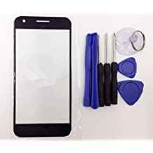 White Black Replacement Front Outer Lens Glass Screen For Nexus Pixel 5 Inches Parts with Tools Kit (Black)