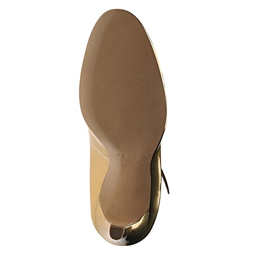 Zapatillas de corte de piel cepillo dorado