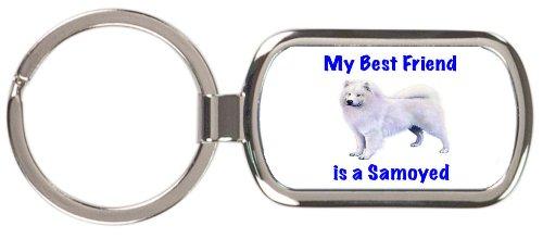 (My Best Friend is Samoyed Rectangular Keychain)