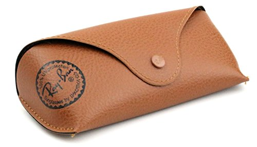 Ray Ban Original Brown Leather Style Medium Case - Fits (Ray Ban Metal Wrap Brown)