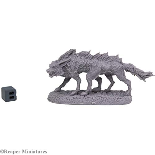 Reaper Miniatures: 44025 - Bloodwolf Bones Black Fantasy Miniature