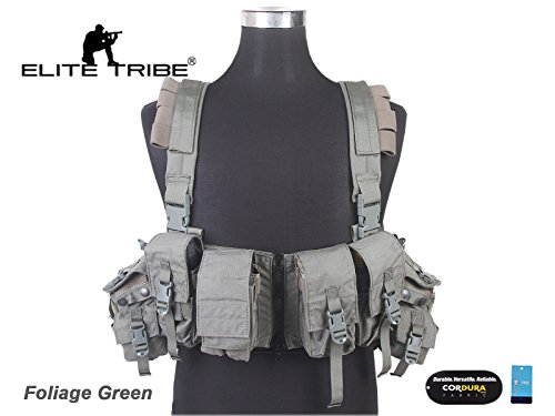 Airsoft Combat Tactical Molle Vest LBT 1961A-R Style Load Bearing Chest Rig FG 500D CORDURA by Paintball Equipment