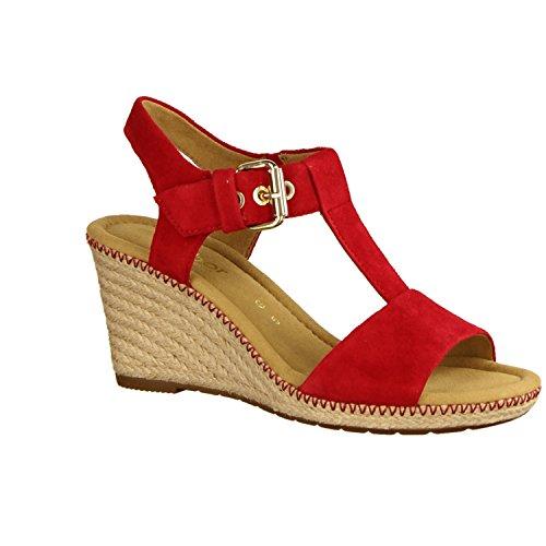 Gabor Shoes Comfort, Sandalias con Cuña Para Mujer Red