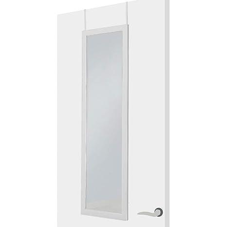 Espejo de Puerta Moderno Blanco de plástico para Dormitorio de 35 x 125 cm Fantasy - LOLAhome