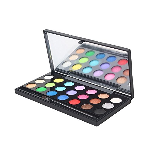 Peacur Shimmer Glitter Eye Shadow Powder Palette Eyeshadow Neutral Nudes Eyeshadow Compact Pearly Dumb Matte Brush Set (A)