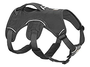 RUFFWEAR - Web Master Dog Harness with Lift Handle, Twilight Gray (2017), Large/X-Large