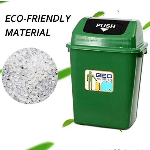 POIUY 公園の屋外のプラスチックごみ箱でスイングトップふた、商業ごみ箱のために環境保護、大容量ゴミ箱 (Color : F, Size : 60L)