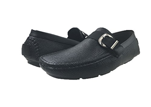 ME Slip Mens Mecca 4103 On Strap Shoes Loafers Ralph Black Belt 6SwwdtqxY