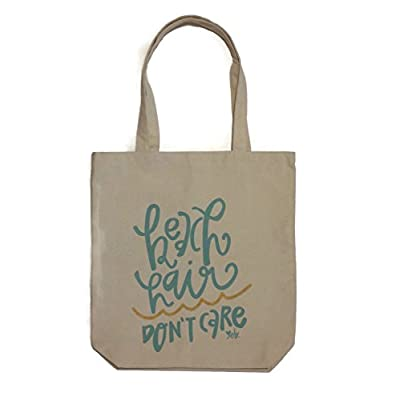 outlet Beach Hair Don't Care Canvas Fashion Tote Bag
