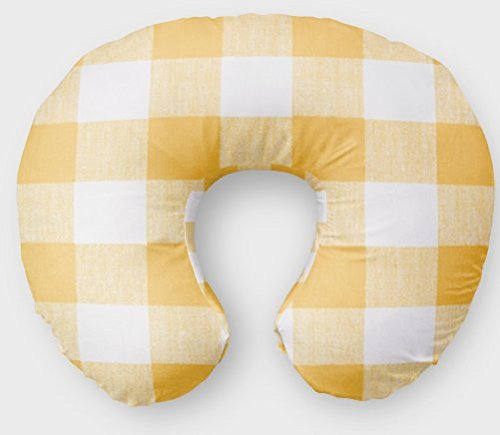 Nursing Pillow Cover in Yellow Buffalo Plaid by Twig + Bird - by Twig + Bird