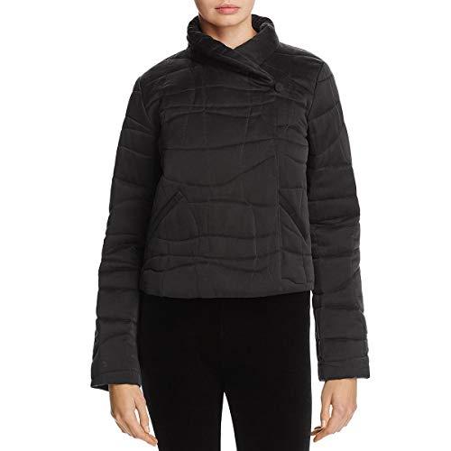 Eileen Fisher Womens Fall Silk Cropped Jacket Black XL