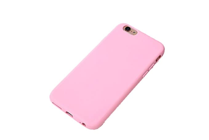 release date: a4066 7787e Pastel Colors TPU Silicone Frosted Matte Case for iPhone 6 Plus 6S Plus  Soft Back Cover (Light Pink)