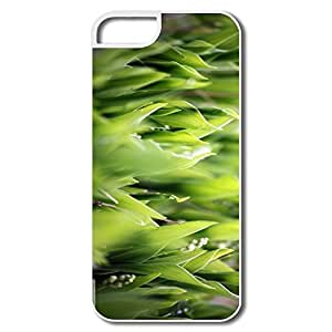 IPhone 5 5S Covers, Lily Valley Leaves White Cover For IPhone 5 5S