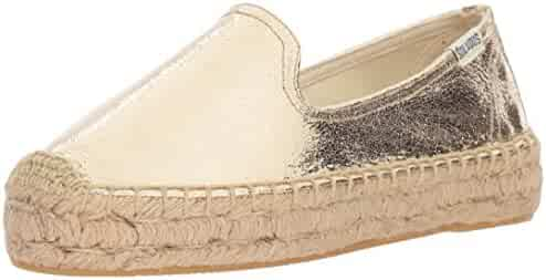 Soludos Women's Metallic Smkg Slipper Platform