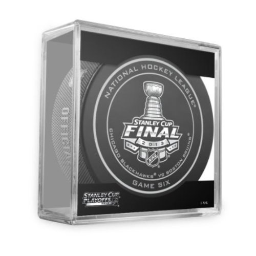 2013 NHL Stanley Cup Finals Game 6 Puck - Boston Bruins vs Chicago Blackhawks