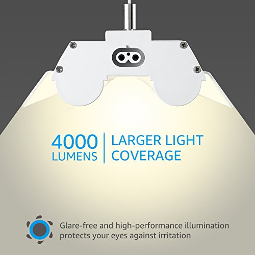 LeonLite 40W 4ft Linkable LED Utility Shop Light, Double-Tube T8 LED, 4000lm 120W Equivalent, ETL & Energy Star Certified Suit for Garage, Workbench, Office, Warehouse, 4000K Cool White, Pack of 4 by LEONLITE (Image #4)