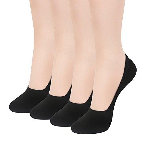 Women's No Show Socks 4 Pairs – Best Low Cut Cotton Socks by Sockspree (SH-SPN-BL-M)