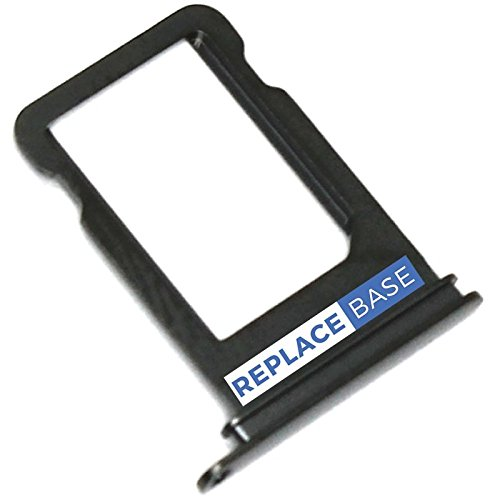 Compatible With iPhone X - Replacement SIM Tray Holder - Black - OEM Premium Quality