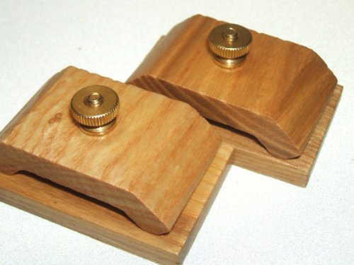 1 Pair Mini Ash Wood Hang-Ups Quilt Clamps Clips - Small (Wood Quilt)
