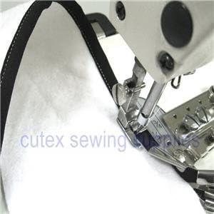 Size 5//8 Sewing Machine Single Fold Tape Binder Binding Attachment with Swing Bracket