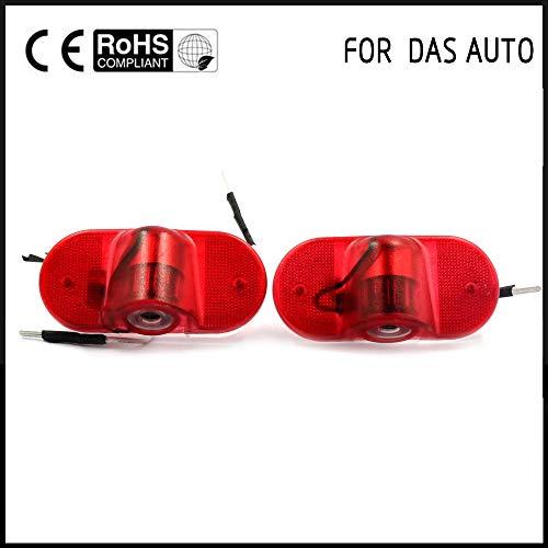 - Carvicto - 2X Car LED door light For VW Logo Projector Door Warning Light Welcome fit For VW golf 4 mk4 touran caddy mk4 bora Beatles