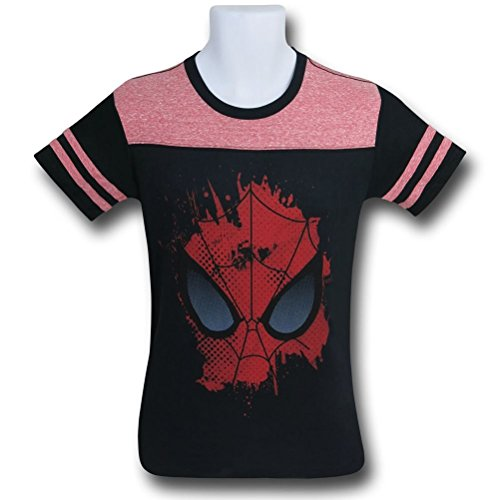Spiderman Face Ace Kids T-Shirt- Yth Small (7-8)