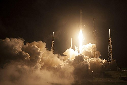 Laminated 36X24 Inches Poster  Rocket Launch Spacex Lift Off Launch Flames Propulsion Space Rocket Speed Vehicle Missile Rocket Engine Transportation Transport Spaceship Power Spacecraft Flying