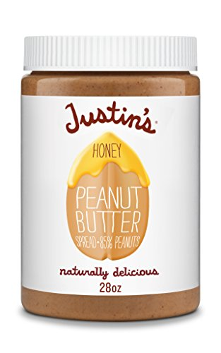 Honey Peanut Butter by Justin's, Only Two Ingredients, No Stir, Gluten-free, Non-GMO, Responsibly Sourced, 28oz Jar