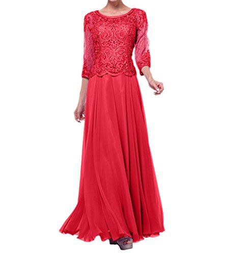 Ballkleider Kleider Blau Spitze Langarm Navy Charmant Festlichkleider Langes Abendkleider Damen Rot Festliche nFTWYnqwz