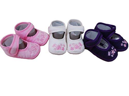Bebé niñas zapatos de pana en color rosa o marfil o morado Rosa