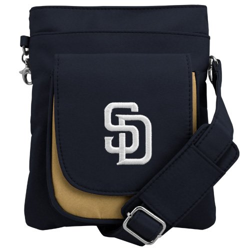 MLB San Diego Padres Crossbody Purse-Handbag-Travel ()