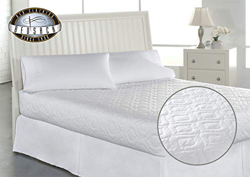 Bed Mattress Pad Cover Full Size White Protector Pillow Top Topper Quilted Soft 691197066209 Ebay