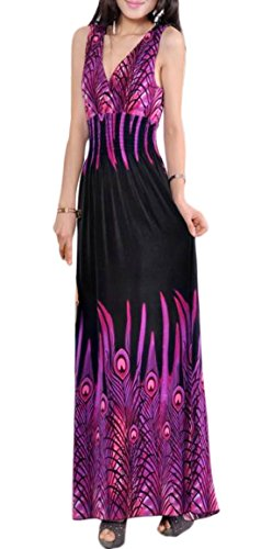 long black peacock dress - 1