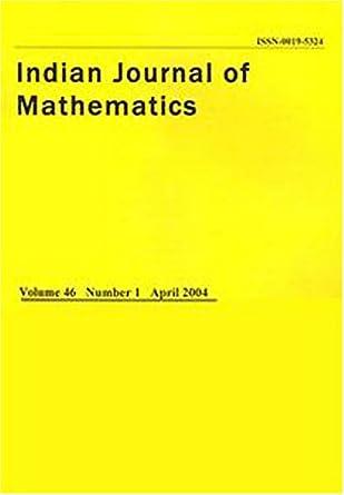 Indian Journal of Mathematics: Amazon com: Magazines
