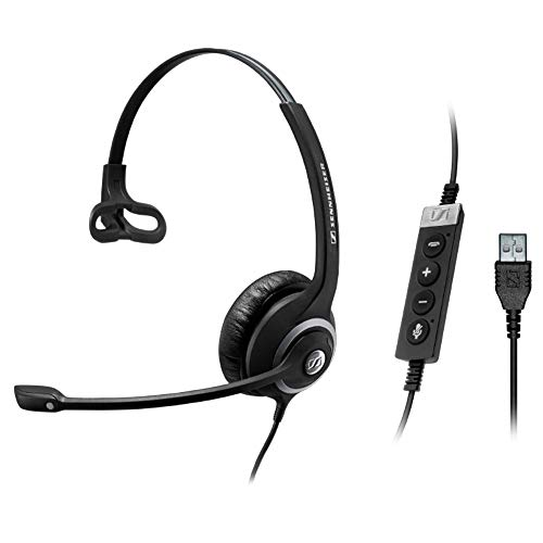 Sennheiser SC 230 USB CTRL II (506480) - Double-Sided Business Headset | For Unified Communications, Softphone, and PC | with HD Sound, Noise-Cancelling Microphone (Black)