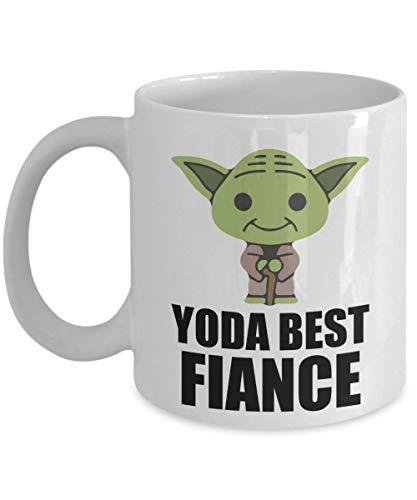 - Yoda Best Fiance Birthday Gifts Present - Star Wars Memorabilia Fans Yoda Collectors Gifts - Funny Christmas Family Coffee Mug