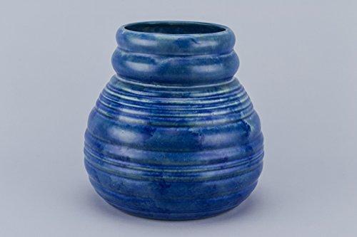 Elegant Vintage Ceramic Ribbed Carlton Ware Art Deco VASE Small Serving Globular Basket English Mid 20th Century LS