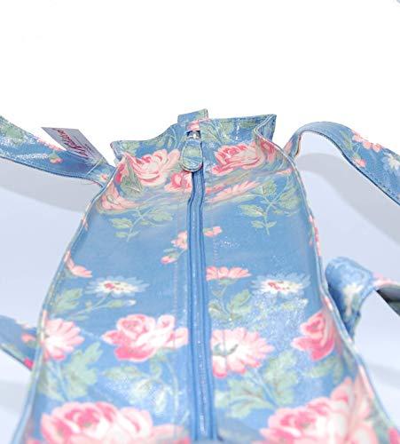 Höhe mit cm Kidston 32 donna Cath 12 Rosa mano Breite cm Länge 39 Blüten Borsa cm a Mittelblau Y7dnBnCx6