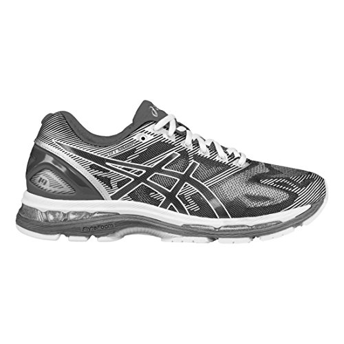 ASICS Men's Gel-Nimbus 19 Running Shoe, Carbon/White/Silver, 9.5 M US Online Sports Mesh Gloves