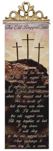 Manual Inspirational Collection Hanging Wall Panel, Old Rugged Cross, 13 X 36.5-Inch by Manual Woodworker