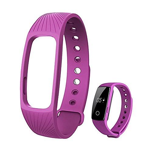 Original Band Strap Wrist Strap Replacement Band Strap for D107 Smart Bracelet(Purple)