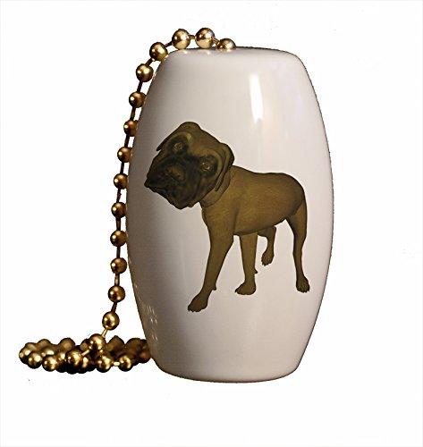 Mastiff Ornaments - Megga Noggin Mastiff Porcelain Fan/Light Pull