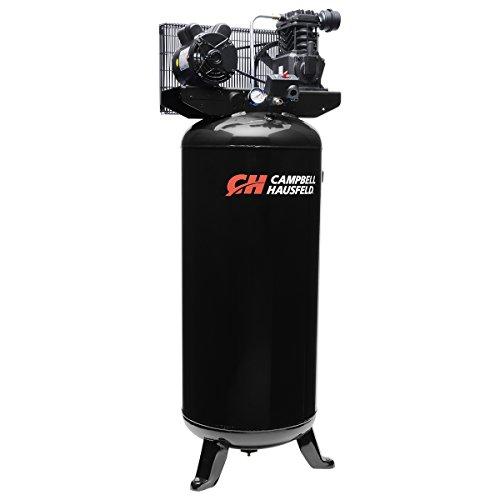 Campbell Hausfeld Air Compressor, 60 gallon Vertical Single-Stage 10.2CFM 3.7Hp 208-230V 1Ph (VT6395)