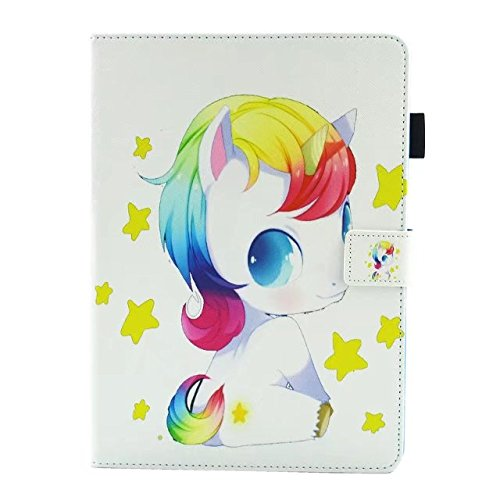 iPad Pro 10.5 Case 2017 Anya Cute Lovely Cartoon Animal Series Style Rainbow Unicorn Stand Folio Case Cover for Apple iPad Pro 10.5 Inch[Baby Unicorn]