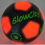 GlowCity Size Three Light Up LED Soccer Ball-Uses Two Hi-Bright LED Lights