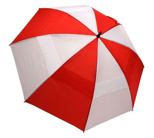 "Umbrella Nylon Windproof (62"" Wind-Cheater Vented Double Canopy Windproof Golf Umbrella (Red/White))"