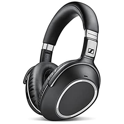 Sennheiser PXC 550 Wireless Noise Cancellation Bluetooth Headphone Bundle with HardBody PRO Full Sized Headphone Case and Wood Headphone Stand